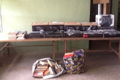 Donation of Computers Printers & Books to Ibusa Library 2012